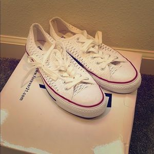 White net converse all stars